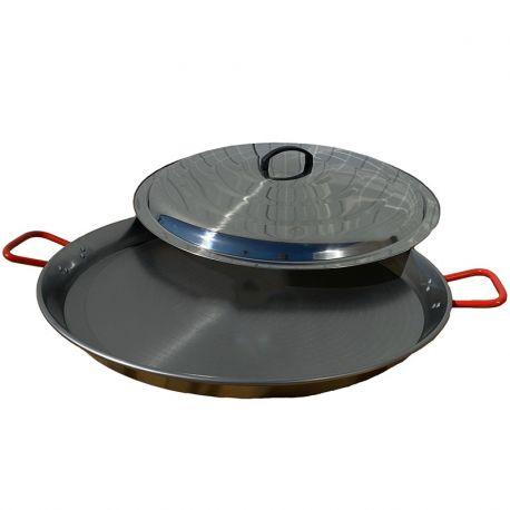 Poêle à paella géante 70cm Vaello Campos + couvercle - 30 parts