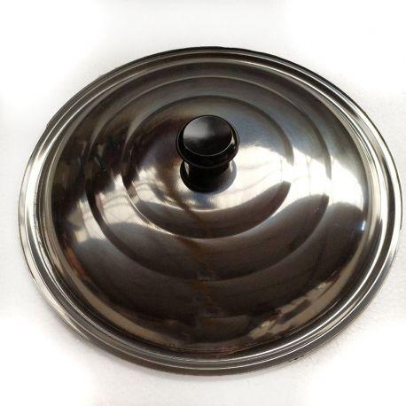 Couvercle inox 34cm pour poêles à paella