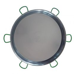 Plat à paella géante Vaello Campos en acier poli - Diamètre 130cm / 200 parts