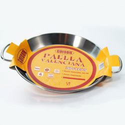 Poêle à Paella inox 46cm spécial induction - 12 parts