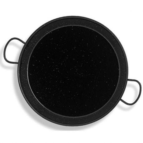 Poêle à paella Vaello Campos émaillée - Diamètre 38cm / 8 parts