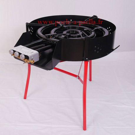 Réchaud à paella professionnel 600mm VLC + pare-flamme