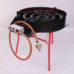 Réchaud à paella professionnel 600mm VLC avec thermocouple, veilleuse et pare-flamme