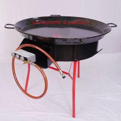 Kit à paella thermocouple pour 40 personnes avec plat émaillé + pare-flamme