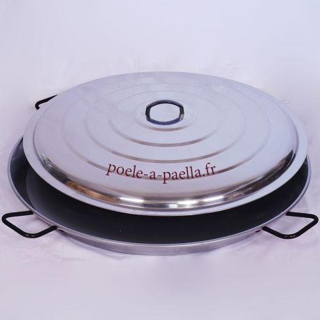Plat à paella géante 115cm Vaello Campos + couvercle - 120 parts