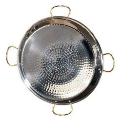 Poêle à Paella inox 90cm - 50 parts